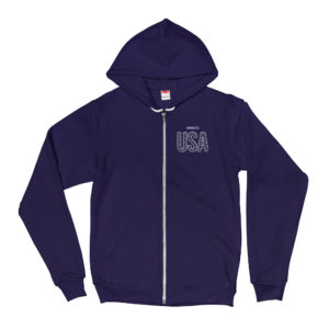 American Apparel F497 Unisex Flex Fleece Zip Hoodie
